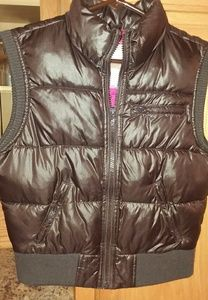 Old Navy brown puffer vest size 7/8
